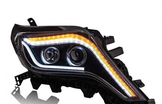 AL ヘッドライト 適用: トヨタ プラド 2014-16 LED ヘッドランプ デイタイムランニングライト DRL バイキセノン HID 4300K~8000K 35W・55W AL-HH-0198
