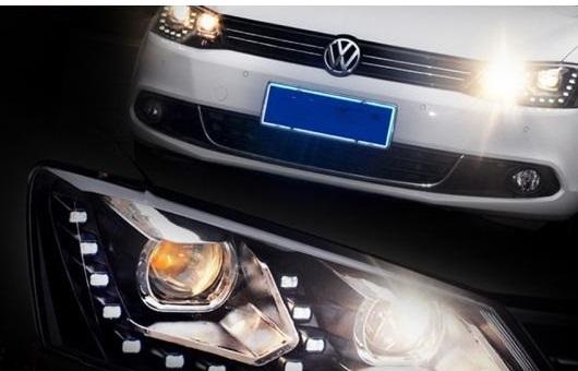 AL 適用: VW フォルクスワーゲン/VOLKSWAGEN ジェッタ ヘッドライト 2012-2015 LED DRL BI キセノン レンズ ハイ ロー ビーム パーキング フォグランプ 4300K~8000K 35W・55W AL-HH-0203