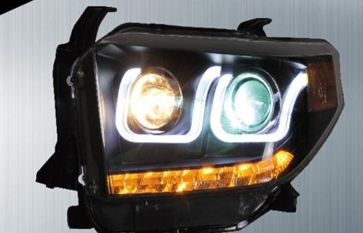 AL 適用: トヨタ タンドラ ヘッドライト 2014-16 LED ヘッドランプ DRL プロジェクター H7 HID バイキセノン レンズ 4300K~8000K 35W・55W AL-HH-0213