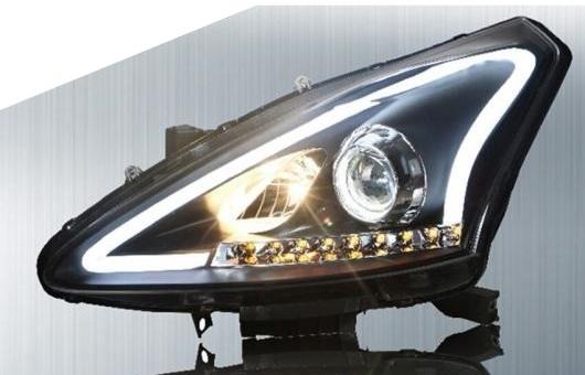AL ヘッドランプ 適用: 日産 ティーダ ヘッドライト 2011-15 LED DRL デイタイムランニングライト バイキセノン HID 4300K~8000K 35W・55W AL-HH-0214