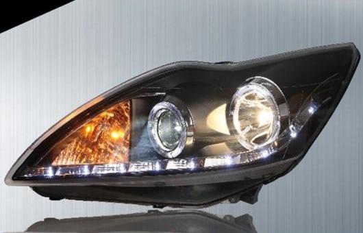 AL 適用: フォード/FORD フォーカス ヘッドライト 2009-2011 LED ヘッドランプ DRL プロジェクター H7 HID バイキセノン レンズ 4300K~8000K 35W・55W AL-HH-0224