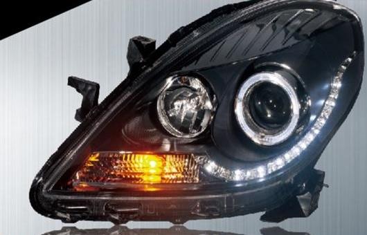 AL 適用: 日産 サニー ヘッドライト 2011-2012 LED ヘッドランプ DRL プロジェクター H7 HID バイキセノン レンズ 4300K~8000K 35W・55W AL-HH-0230