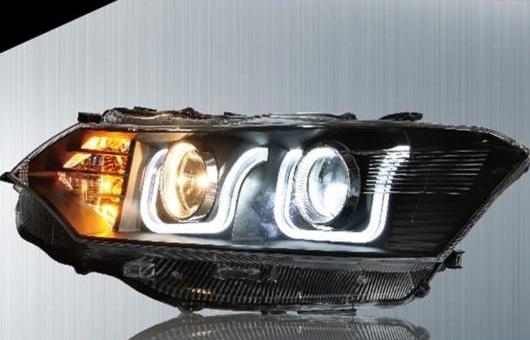 AL 適用: トヨタ ヴィオス ヘッドライト 2014-2016 LED ヘッドランプ DRL プロジェクター H7 HID バイキセノン レンズ 4300K~8000K 35W・55W AL-HH-0235