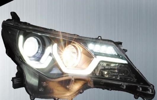 AL 適用: トヨタ RAV4 ヘッドライト 2013-2015 LED ヘッドランプ DRL プロジェクター H7 HID バイキセノン レンズ 4300K~8000K 35W・55W AL-HH-0236