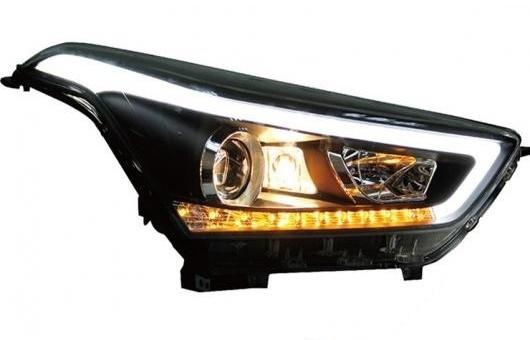 AL 適用: ヒュンダイ/現代/HYUNDAI IX25 ヘッドライト 2015-2019 LED ヘッドランプ DRL プロジェクター H7 HID バイキセノン レンズ 4300K~8000K 35W・55W AL-HH-0255