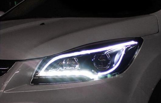 AL ヘッドライト 適用: フォード/FORD クーガ エスケープ 2013-2015 LED ヘッドランプ デイタイムランニングライト DRL バイキセノン HID 4300K~8000K 35W・55W AL-HH-0280