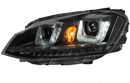 AL 適用: VW フォルクスワーゲン/VOLKSWAGEN ゴルフ MK7 ヘッドライト 2014-2016 ゴルフ7 LED ヘッドランプ DRL プロジェクター H7 HID バイキセノン レンズ 4300K~8000K 35W・55W AL-HH-0306