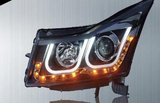AL 適用: シボレー/CHEVROLET クルーズ ヘッドライト 09-14 LED ヘッドランプ DRL プロジェクター H7 HID バイキセノン レンズ 4300K~8000K 35W・55W AL-HH-0313