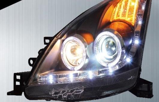 AL 適用: 日産 リヴィナ ヘッドライト 2008-10 LED ヘッドランプ DRL プロジェクター H7 HID バイキセノン レンズ AL-HH-0315