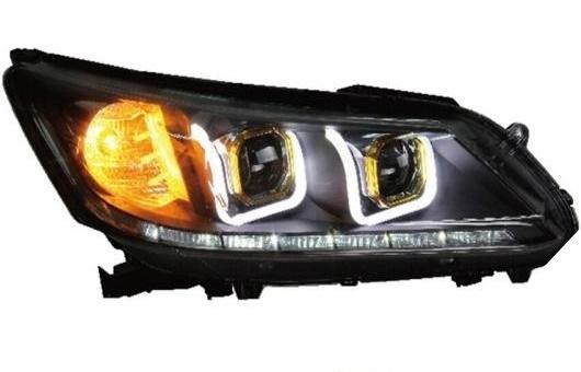 AL 適用: ホンダ アコード ヘッドライト 2014-16 LED ヘッドランプ DRL プロジェクター H7 HID バイキセノン レンズ AL-HH-0316