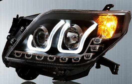 AL 適用: トヨタ プラド ヘッドライト 2009-2013 LED ヘッドランプ DRL プロジェクター H7 HID バイキセノン レンズ AL-HH-0317