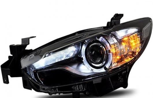 AL 適用: マツダ アテンザ ヘッドライト 2014-2015 LED DRL BI キセノン レンズ ハイ ロー ビーム HID パーキング フォグランプ 4300K~8000K 35W・55W AL-HH-0324