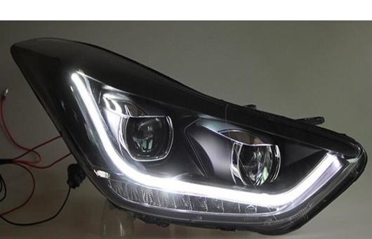 AL 適用: ヒュンダイ 現代 HYUNDAI エラントラ ヘッドライト 2012-2015 LED DRL BI キセノン レンズ ハイ ロー ビーム パーキング HID フォグランプ 4300K~8000K 35W 55W AL-HH-0349