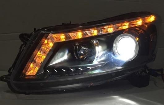AL 適用: ホンダ アコード ヘッドライト 2008-2013 LED DRL BI キセノン レンズ ハイ ロー ビーム パーキング HID フォグランプ 4300K~8000K 35W・55W AL-HH-0351