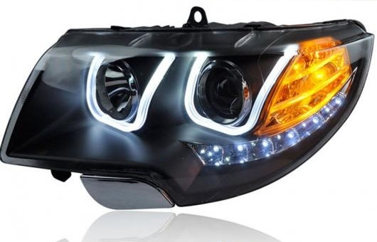 AL 適用: シュコダ スペルブ ヘッドライト 2009-2013 LED ヘッドランプ DRL レンズ ダブル ビーム H7 HID キセノン BI 4300K~8000K 35W・55W AL-HH-0362