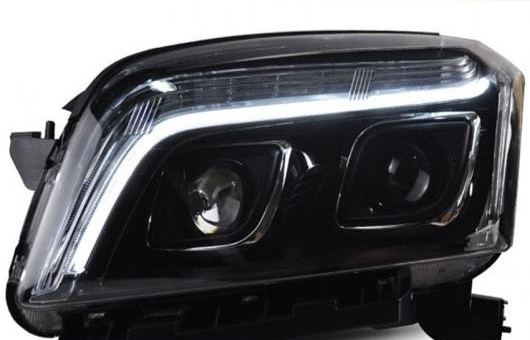 AL 適用: シボレー/CHEVROLET トラック ヘッドライト 2014 LED DRL レンズ ダブル ビーム H7 HID キセノン BI 4300K~8000K 35W・55W AL-HH-0379