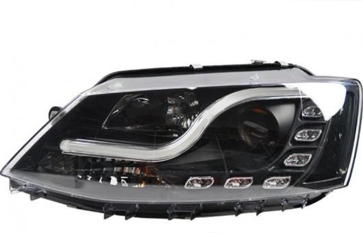 AL 適用: VW フォルクスワーゲン/VOLKSWAGEN ジェッタ ヘッドライト 2012-2015 LED DRL レンズ ダブル ビーム H7 HID キセノン BI 4300K~8000K 35W・55W AL-HH-0386