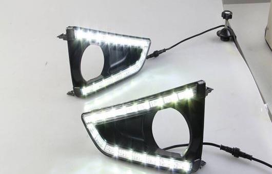 AL 適用: トヨタ レイツ/マークX 2013-2015 LED DRL 高光度 ガイド フォグ ランプ デイタイムランニングライト AL-HH-0419