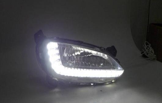 AL 適用: ヒュンダイ/現代/HYUNDAI IX45 2013-15 LED DRL フォグ ランプ デイタイムランニングライト 高光度 ガイド AL-HH-0423