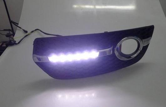 AL 適用: アウディ/AUDI Q5 2010-2012 LED DRL 高光度 ガイド フォグ ランプ デイタイムランニングライト AL-HH-0461