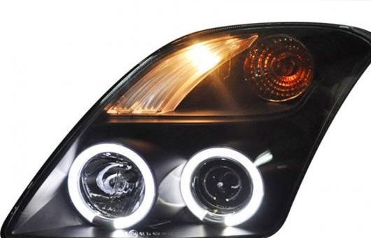 AL 適用: スズキ スイフト ヘッドライト 2005-2011 LED DRL レンズ ダブル ビーム H7 HID キセノン BI 4300K~8000K 35W・55W AL-HH-0466