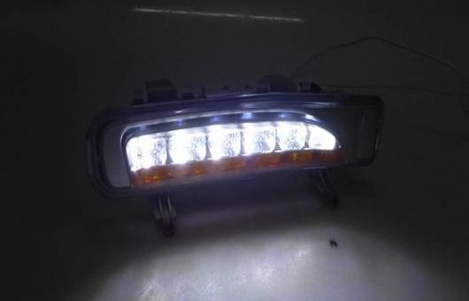 AL 適用: フォード/FORD エッジ 2010-2014 LED DRL 高光度 ガイド L フォグ ランプ デイタイムランニングライト イエロー ターン ライト AL-HH-0476