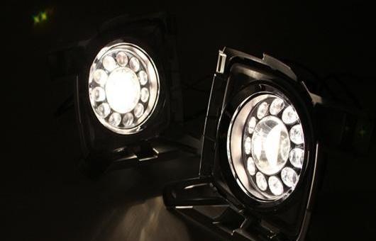 AL 適用: トヨタ ランドクルーザー FJ200 2012-2014 LED DRL 高光度 ガイド フォグ ランプ デイタイムランニングライト AL-HH-0488