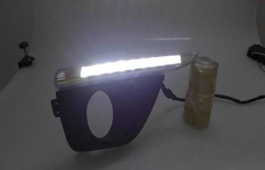 AL 適用: ルノー/RENAULT コレオス 2012-2013 LED DRL 高光度 ガイド フォグ ランプ デイタイムランニングライト AL-HH-0499