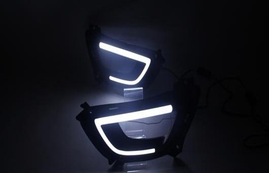 AL 適用: 起亜 スポーテージ 2015 LED DRL R 高光度 ガイド フォグ ランプ デイタイムランニングライト C シャープ AL-HH-0534