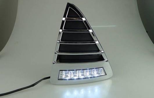 AL 適用: フォード/FORD フォーカス LED DRL 高光度 ガイド フォグ ランプ デイタイムランニングライト E スタイル AL-HH-0565