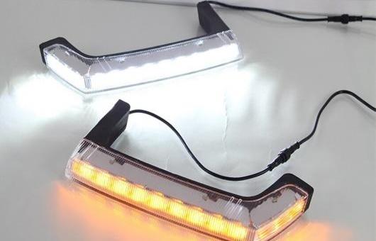 AL 適用: ジープ/JEEP ラングラー 2008-2015 LED DRL フォグ ランプ デイタイムランニングライト 高光度 ガイド AL-HH-0588