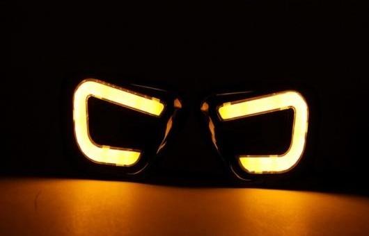 AL 適用: ジープ/JEEP コンパス LED ガイディング ライト DRL 2011 2012 2013 2014 デイタイムランニングライト イエロー AL-HH-0602
