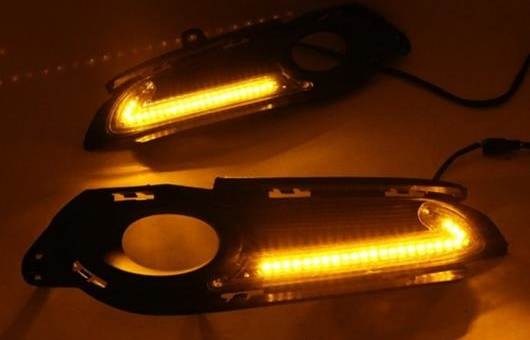 AL 適用: ホンダ VEZEL14-15 LED DRL ベゼル フォグ ランプ デイタイムランニングライト 高光度 ガイド AL-HH-0613