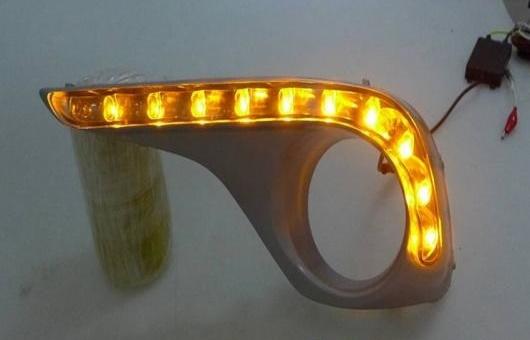 2012-2014 適用: AL DRL ガイド フォグ LED AL-HH-0614 デイタイムランニングライト 高光度 ランプ ハイランダー トヨタ