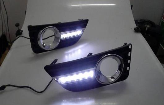 AL 適用: トヨタ カムリ LED DRL 2011-2012 高光度 ガイド フォグ ランプ デイタイムランニングライト AL-HH-0622