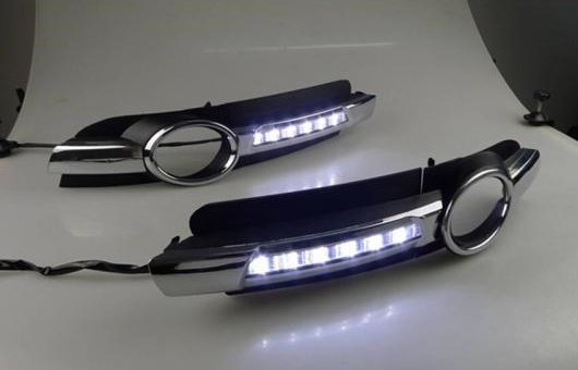 AL 適用: アウディ/AUDI A6L 2005-2008 LED DRL フォグ ランプ デイタイムランニングライト 高光度 ガイド AL-HH-0630