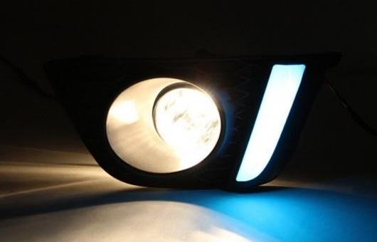 AL 適用: ホンダ フィット LED DRL 高光度 ガイド フォグ ランプ デイタイムランニングライト フォグランプ AL-HH-0654