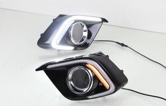 AL 適用: トヨタ マツダ 3 アクセラ LED DRL フォグ ランプ デイタイムランニングライト 高光度 ガイド C タイプ AL-HH-0678