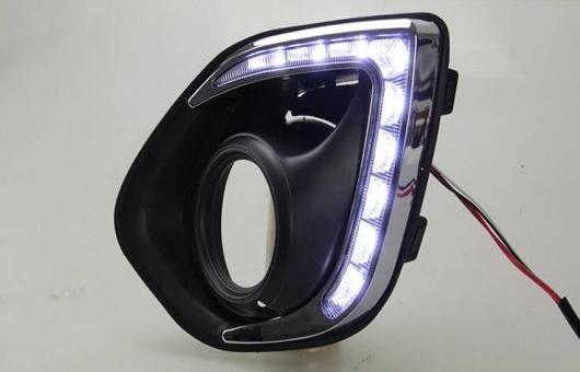 AL LED DRL デイタイムランニングライト 適用: 三菱 アウトランダー スポーツ RVR ASX 2013-2014 2ピース DAR ホワイト AL-HH-0693