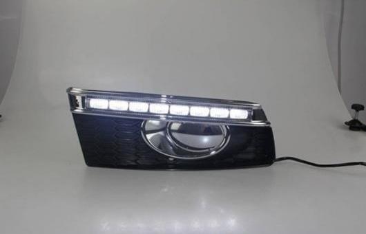AL 適用: VW フォルクスワーゲン/VOLKSWAGEN ポロ 2011-2013 LED DRL 高光度 ガイド フォグ ランプ デイタイムランニングライト AL-HH-0694