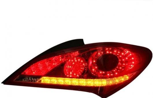 AL LED テール ランプ 適用: ヒュンダイ/現代/HYUNDAI ロヘンス クーペ テールライト リア ライト DRL + ターンシグナル ブレーキ リバース LE レッド AL-HH-0741