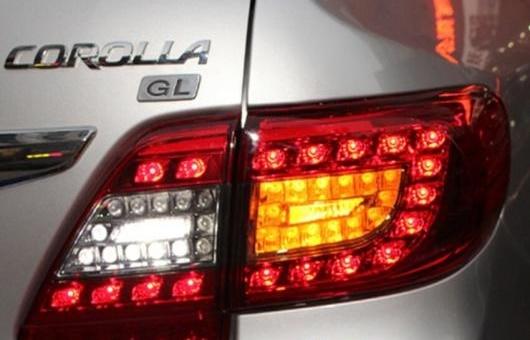 AL 適用: トヨタ カローラ テールライト 2011-2013 アルティス LED テール ランプ リア DRL + ブレーキ パーク シグナル ライト レッド AL-HH-0760
