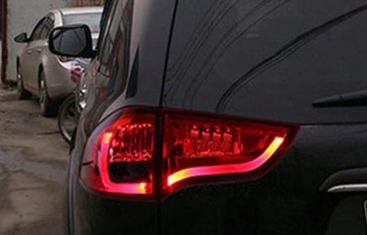 AL 適用: 三菱 パジェロ テールライト 2011-2013 スポーツ LED テール ランプ リア DRL + ブレーキ パーク シグナル ライト レッド AL-HH-0768