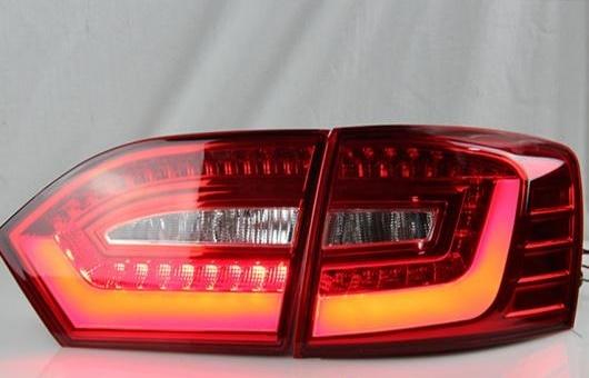 AL 適用: VW フォルクスワーゲン/VOLKSWAGEN ジェッタ テールライト 2011-2014 MK6 LED テール ランプ リア DRL + ブレーキ パーク シグナル ライト レッド AL-HH-0778
