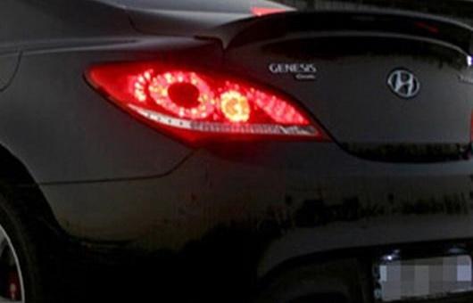 AL 適用: ヒュンダイ/現代/HYUNDAI ロヘンス クーペ LED テールライト 2009-2012 テール ランプ リア DRL + ブレーキ パーク シグナル ライト レッド AL-HH-0795