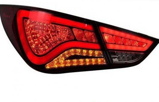 AL 適用: ヒュンダイ/現代/HYUNDAI ソナタ8 テール ライト 2014-2015 ソナタ LED リア ランプ DRL + ブレーキ パーク シグナル レッド AL-HH-0802