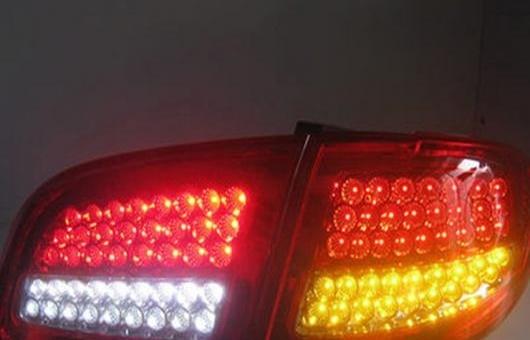 AL 4ピース 適用: ヒュンダイ/現代/HYUNDAI サンタフェ テールライト 2007-2013 LED テール ランプ + ターンシグナル ブレーキ リバース ライト レッド AL-HH-0805