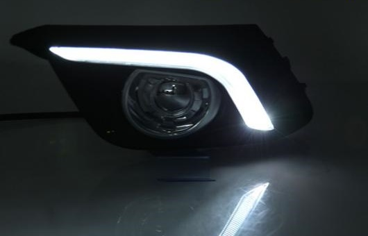 AL 適用: マツダ MAZDA3 アクセラ 2014-2017 LED DRL フォグ ランプ デイタイム ランニング 高光度 ガイド イエロー ライト 35W ホワイト・イエロー 5500K AL-HH-0815
