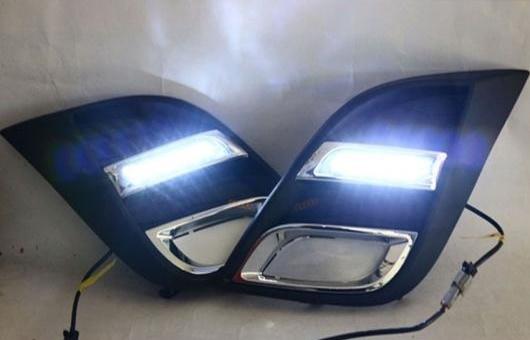 AL 適用: マツダ MAZDA3 10-13 LED DRL フォグ ランプ デイタイム ランニング 高光度 ガイド ライト 35W ホワイト 5500K AL-HH-0816