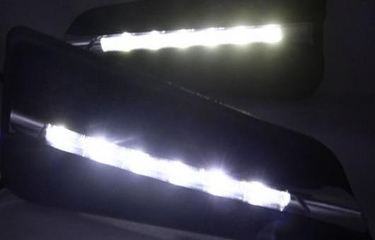 AL 2 ピース ABS デイタイム ランニング DRL 適用: ホンダ シティ 2015-2017 フォグライト フロント ランプ オート 35W ホワイト 5500K AL-HH-0826